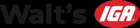 A theme logo of Walt's IGA